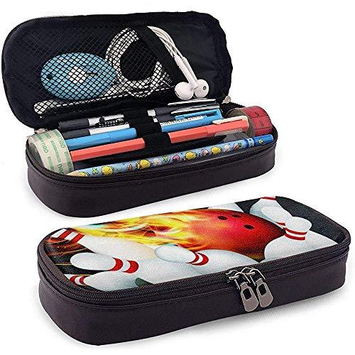 Bowlingkugel PU Leder Bleistift Stift Tasche Beutel Tasche Halter Zubehör für Student Kosmetik Make-up Tasche