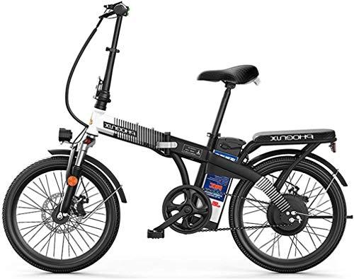 RDJM Electric Bike, E-Bike 20 Inch Tires Folding Electric Bike, 48V 8Ah Lithium Battery 250W Watt Motor Electric Bike for Adults City Commuting, Disc Brake Lithium Battery Beach Cruiser for Adults