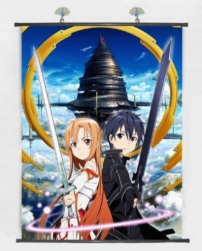 Home Decor Japanese Anime Wall Scroll Anime Poster Sword Art Online (24