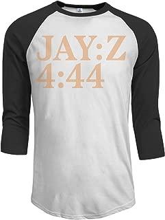 MarshallD Men's Jay-Z 4 44 3/4 Sleeve Raglan Baseball T-Shirt Black
