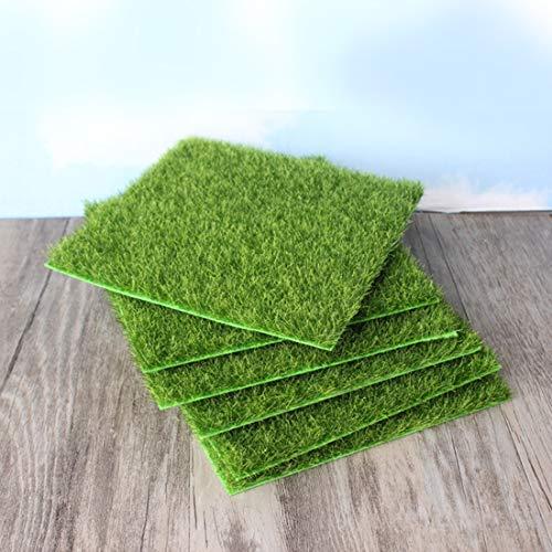 JINYANG Suministros hortícolas Simulación de césped pequeño Micro-Paisaje Paisaje de Hierba Verde, Tamaño: 15 x 15 cm
