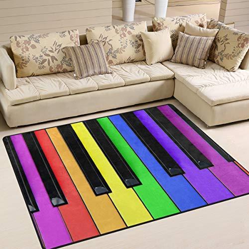 Tapijt Arco Iris kleurrijke muziek piano 80 x 58 inch voor woonkamer slaapkamer 63x48 Inch