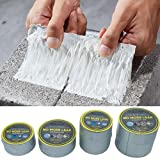 2 m Convenient Aluminum Foil Adhesive Tape Waterproof Duct Tape Super Repair Crack Thicken Butyl Waterproof Tape Home Renovation Tools Aging Resistance Super Waterproof Rubber Tape