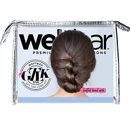 Weftbar Bridal Hair Updo Kit – Pretty Knotted Braid Updo – Includes Easy To Use Wedding Updo Hair Accessories + Tutorial Style Guide - 8 pieces (No Extensions)