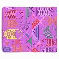 ゲーミングマウスパッドカスタム、かわいいカラフルな魚のマウスパッド-11.8 ' X9.85 '