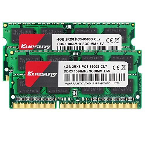 Kuesuny 8GB Kit (2 x 4GB) PC3-8500S 1066MHz 1067MHz DDR3 850