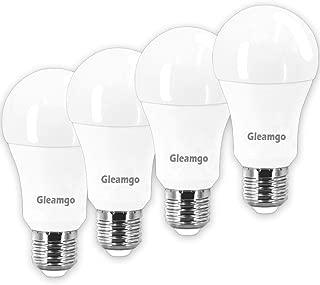 LED Light Bulbs 100 Watt Equivalent A19 15W 3000K Warm White 1600LM,E26 Base,by Gleamgo (4 Pack)
