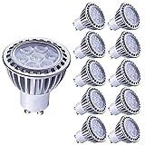 LAMPAOUS 7W LED GU10, blanc froid 6000k, Équivalent aux ampoules halogènes 60W,...
