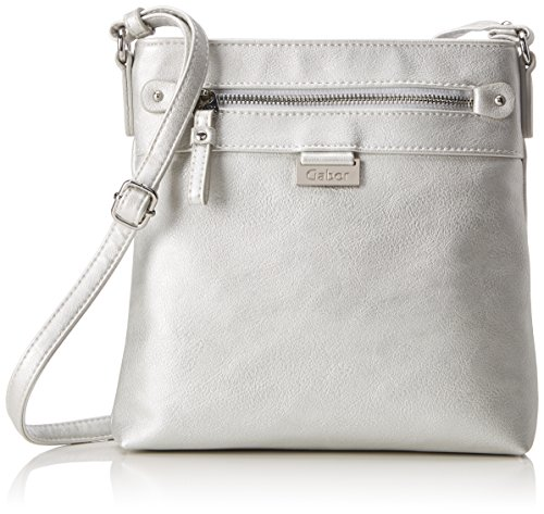 Gabor Umhängetasche Damen Ina, (Silber), 3x22x23 cm, Gabor Handtasche Damen