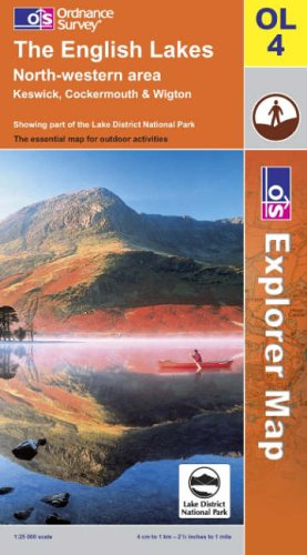 OS Explorer map OL4 : The English Lakes: NW