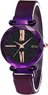 Docooler Women Fashion Elegant Luxury Starry Sky Quartz Watch Lady Magnetic Band Jewelry Wristwatch
