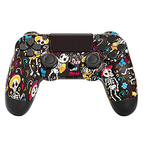 Controller Wireless per PS4, Bluetooth Gamepad Joystick con 6 Assi Dual Shock per Playstation 4/PS4 Slim/PS4 Pro