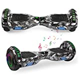 YHR 6.5' Hoverboard LED Lights with Bluetooth Speaker and Smart Self Balancing Hoverboard and Two-Flashing Wheel with UL2272 Certified for Kids and Adults
