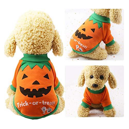 XATAKJJ Ropa para Gatos Carnaval de Halloween Ropa Divertida para Mascotas Abrigo de Invierno Festival de Halloween para Perros Traje para Perros pequeños Gatos, S