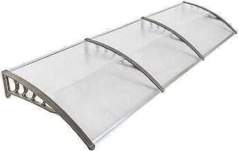 Flyelf Auvent de Porte Rain Protector Transparent Front Door Canopy 100x100cm