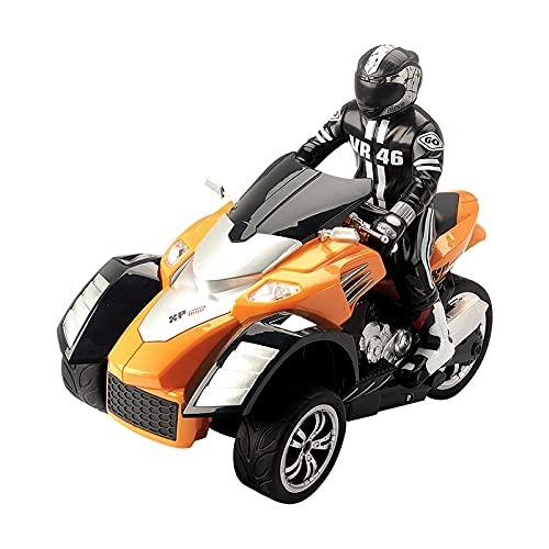 QTQZ Control Remoto de Alta Velocidad RC Stunt Motorbike PTR Neumático de Goma Alta simulación 1:10 Motocicleta de Deriva para Regalos para niños