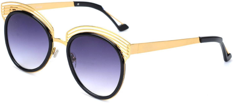 Wkaijc Trendy Ladies Round Big Box color Film Elegant Polarized Sunglasses Sunglasses ,B