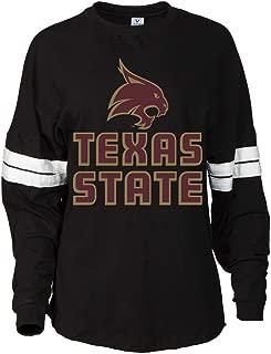 NCAA Texas State Bobcats RYLSWT06 Women's Oversized Football Tee