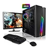 Pack Gaming - Ordenador Gaming PC AMD Ryzen 5 2600  24' ASUS Full-HD  Teclado y ratn Gaming  GeForce GTX1050Ti 4GB  16GB RAM  Windows 10  1000GB HDD  PC Gamer  Ordenador de sobremesa