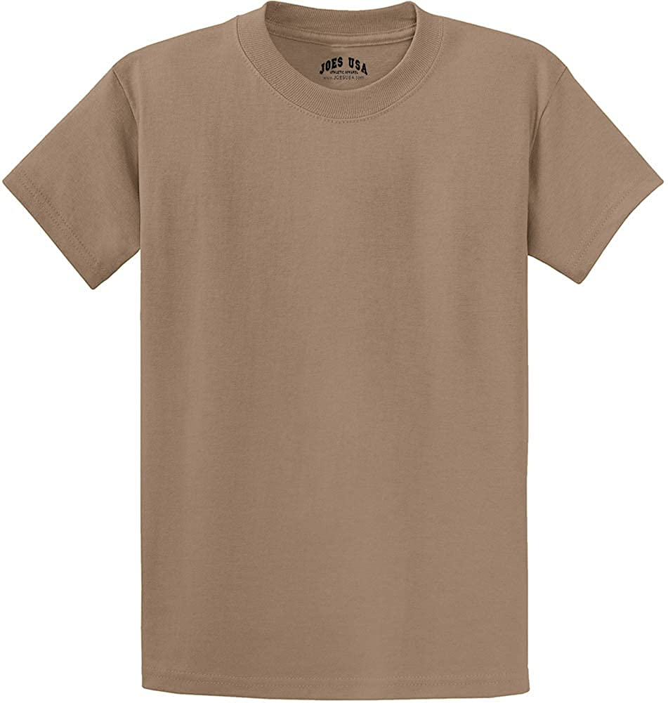 Joe's USA Short Sleeve Cotton T-Shirts in 50 Colors and Sizes S-6XL