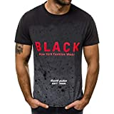 SSBZYES Camiseta para Hombre Camiseta De Color Degradado para Hombre Código Europeo para Hombre Verano Nueva Costura Degradada Cuello Redondo Estampado De Letras para Hombre Camiseta De Manga