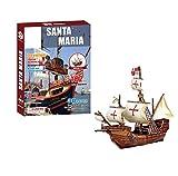 GEEFSU-Modelo de Barco Adorno de Navidad Modelo de Ensamblaje de Embarcaciones de Santa María Rompecabezas de Papel 3D Misterioso Modelo de Barco Pirata Mini Colección de Cruceros