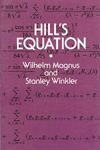 Hill's Equation. Corrected Republication of the 1966 Edの詳細を見る