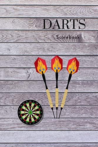 Dart Score Book: Spielbuch für Dart | Tabelle zum Eintragen der Dartpunkte| Training Turnier | Chrickets | Scorer Book | Dartzähler | Notizblock Spieleblock für Punkte