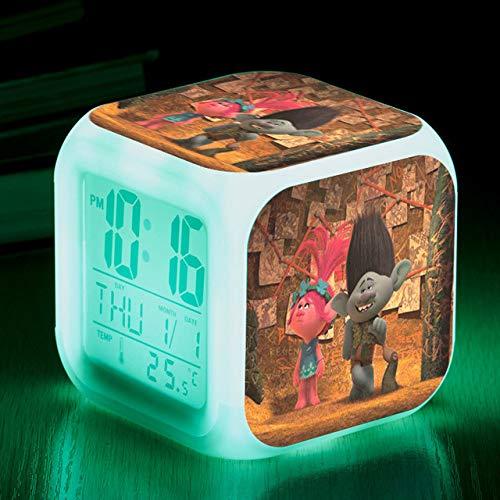 ShiyueNB Film Troll Cartoon Nightstand wekker Digitale wekker licht tafelklok LED