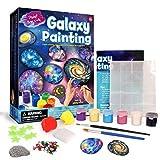 QueenHome Rock Painting Kit Artesanía DIY Diversión Pedagógica Gekritzel Colorido Juego de Pintar Set para Niños Edad 8-12