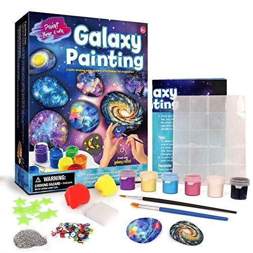 Felsmalerei Kit Kunsthandwerk DIY Spaß pädagogisch - Doodle Bunte Malerei Spielzeug Set für Kinder 8-12 Jahre alt