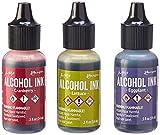 Ranger Adirondack Alcohol Ink 1/2-Ounce 3/Pkg, Farmers Market, Cranberry/Lettuce/Eggplnt