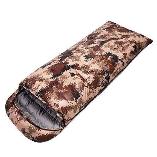BEP Saco De Dormir De Plumón Ligero Y Esponjoso, Costuras Impermeables Saco De Dormir Cálido De Camuflaje para Acampar, Senderismo, Escalada,Gris