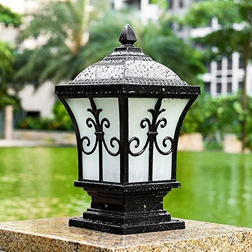 Pilar Lámpara de pared exterior Lámpara Villa Jardín Parque Natural de la lámpara ahorro de energía de iluminación de decoración Porche Patio Faro correos de la calle Linterna Lámpara de pie Floor Lig