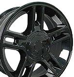20x9 Wheels Fit Ford Trucks - F-150 Harley Style Rims - Black - SET