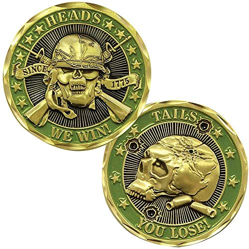 BirchRiver Heads We Win Tails You Lose Challenge Coin, Commemorative Collector