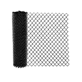 ALEKO CLFB9.5G6X50 Galvanized Steel Chain Link Fence Fabric - 6 x 50 Feet - 9.5 AW Gauge - Black
