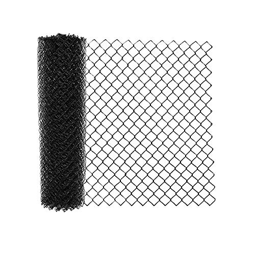 ALEKO CLFB9.5G5X50 Galvanized Steel Chain Link Fence Fabric - 5 x 50 Feet - 9.5 AW Gauge - Black