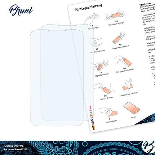 Bruni Schutzfolie kompatibel mit Huawei Ascend Y200 Folie, glasklare Displayschutzfolie (2X) - 2