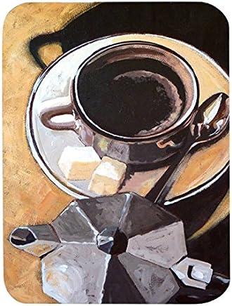 "Caroline's Treasures ARA0086LCB""Coffee I by Roy Avis"" Glass Cutting Board, Large, Multicolor"