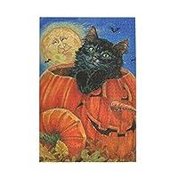 1000ピース ジグソーパズル,Halloween Kitty Cat 木製パズル オモチャ 教育ゲーム 大人 減圧 Jigsaw Puzzle 子供 パズル 脳開発 知育玩具 人気 贈り物
