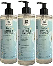 Grab Green Natural Baby Bottle & Dish Soap, Gentle Bamboo Fragrance—with Essential Oils, 16 fl oz (3 Pack), Plant-Based & Biodegradable