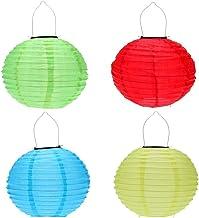 12 inch Waterproof Solar LED Lantern Outdoor Hanging Lights Foldable Decorative Festival Lantern (Random Color)