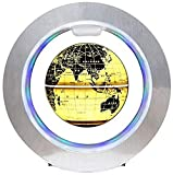 Globo Flotante, Globo terráqueo de levitación magnética de 4 Pulgadas con Base Redonda para decoración de Escritorio para niños, año Nuevo, A