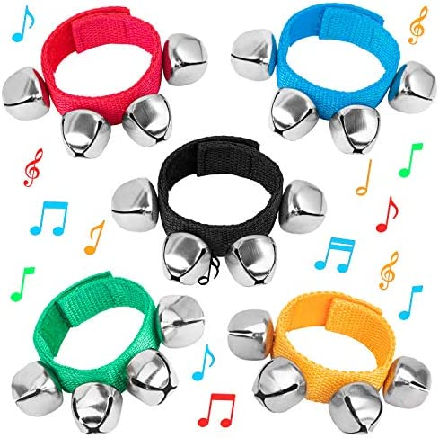Wrist Band Jingle Bells for Kids Musical Instruments Musical Rhythm Toys Great Sound Hand Bracelets product image