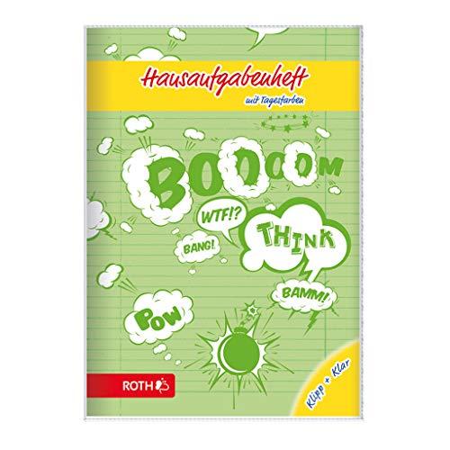 ROTH Hausaufgabenheft Klipp+Klar Comic A5 - mit Tagesfarben für Grundschule