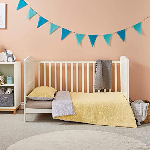 Silentnight Safe Nights Cot Bed Duvet Set Smudge - Toddler Cot Bedding Children's Quilt Cover Kids Baby Bedding Sets - Babies Cot Bed Duvet Cover Sets Ochre