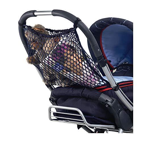 Reer 74877 Einkaufsnetz für Kinderwagen, schwarz