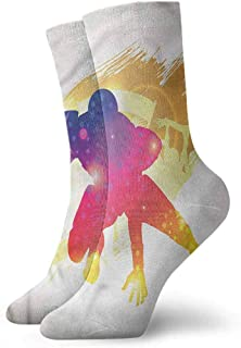 Unique socks Football Absorptive Cup Cheerleader Player