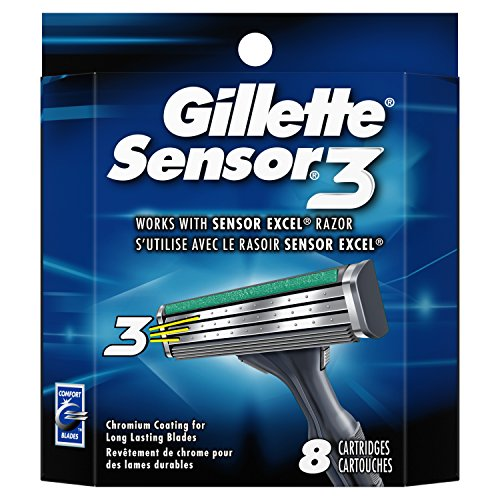 Gillette Sensor3 Men's Razor Blades – 8 Refills